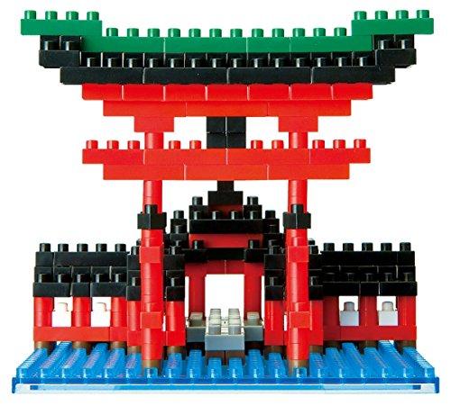 nanoblock NBH-017- Big Torii Itsukushima Shrine,  Minibaustein 3D-Puzzle, Sights to See Serie, 350 Teile, Schwierigkeitsstufe 2, mittel