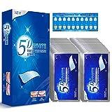 56 White Stripes, Zahnaufhellung, Zähne Bleaching Stripes, White Stripes, Professionelles Zahnaufhellung Stripes mit Advanced No Slip Technology Bleaching Set für Weiße Zähne