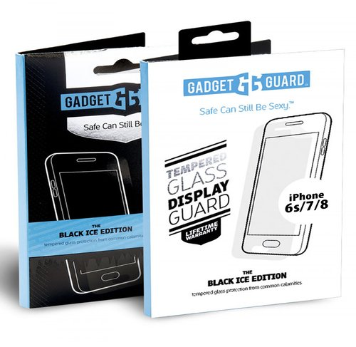 Gadget Guard Black Ice Tempered Glass Screen Protector for Apple iPhone 6S/7/8 (packaging may vary)