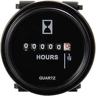 iplusmile 6-80V Quartz Round Gauge Digital Time Meter Digital Hour Clock for Marine Boat Engine Motocross Marine Motorcycle (DC)