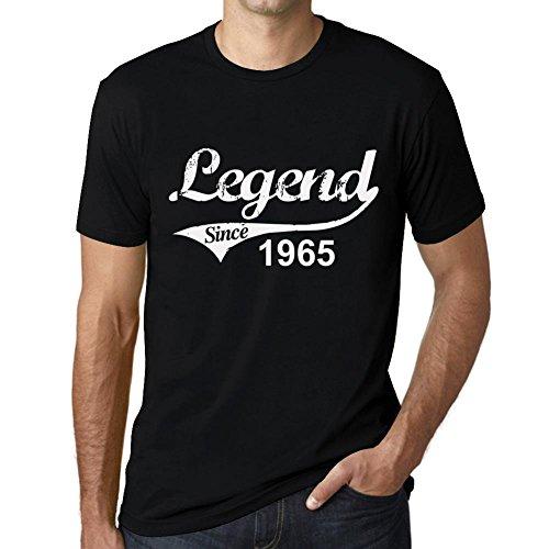 Cityone Uomo Maglietta Tee Vintage T Shirt 1965 Regalo di Compleanno 56 Anni Profondo Nero Testo Bianco Profondo Nero Testo Bianco Large
