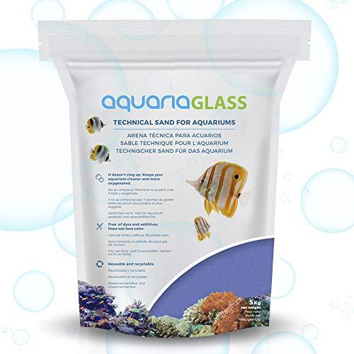 Aquariaglass Pacific Arena técnica para acuarios, peceras y terrarios 5 kg Color Azul