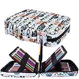 JAKAGO - Astuccio per 220 matite colorate, grande capacità, multistrato, impermeabile, per pastelli acquerellabili, pennarelli e penne gel, ottimo regalo per studenti di arte L Occhiali da vista gatto