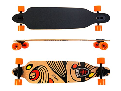 Maxofit Longboard 'Tres Cruces No. 417', 104 Cm, 7 Strati Di Acero Canadese, Drop Through, 41X9,5',