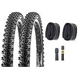 P4B 2 neumáticos de bicicleta de 24 pulgadas (50-507) + cámaras AV, 24 x 1,95, neumáticos...