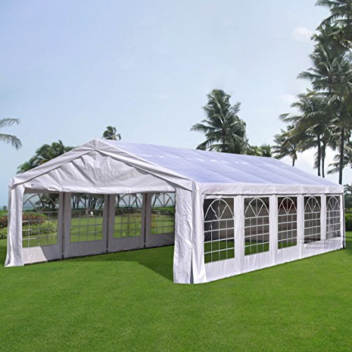 Quictent 6X10M (20X32FT) Upgraded Galvanised Heavy Duty Marquee Wedding Party Tent Waterproof Large Gazebo Event Shelter With Ground Bar And Removable Sidewalls