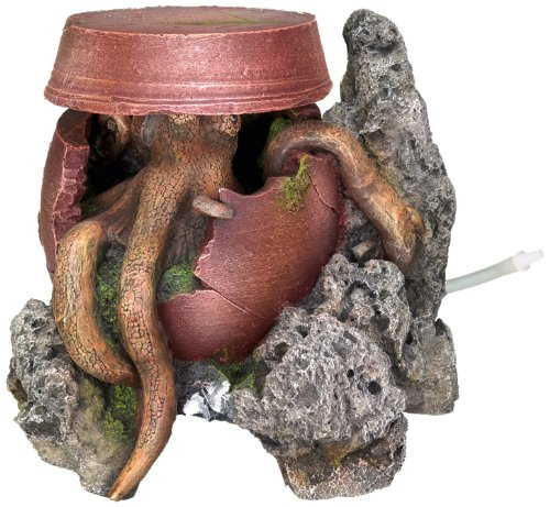 Nobby Jar met Octopus Aquarium Ornamenten, 18,5 x 16,5 x 15 cm