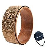 haxTON Kork Yoga Rad, Mit Spezieller Tasche, Natürlichen und Bequemen Yoga...