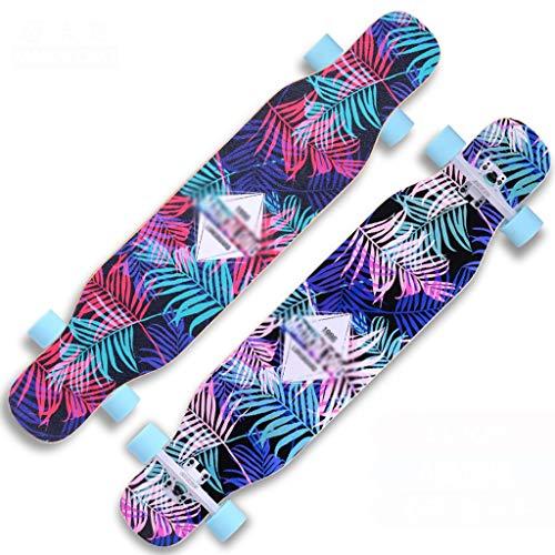 MKJYDM Scooter Maple Long Board Brush Street Dance Board Cuatro Ruedas Doble Skateboard Skateboard Principiante Teen Boy Girl Profesional Skateboard patineta (Color : C)