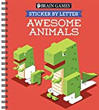 Brain Games - Sticker by Letter: Awesome Animals (Sticker Puzzles - Kids Activity Book)