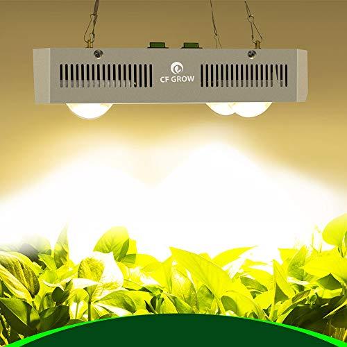COB LED Grow Light CF Grow Citizen-X4, lámpara de Cultivo LED de Espectro Completo 600W con Chips de 3500K, Interruptor Dual de Encendido/Apagado para Plantas de Interior