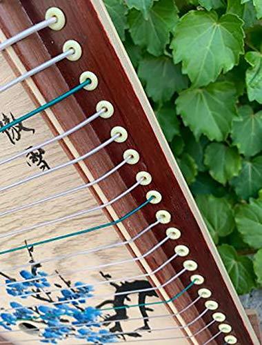 N /A Guzheng, Mini Guzheng, Guzheng Finger Trainer mit Zubehör, Protable, 21 Streicher, Geeignet for Anfänger, Erwachsene, Kinder, Größe: 50 x 33 cm (Color : Primary Color)