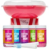 The Candery Cotton Candy Machine and Floss Bundles (Machine with 5 Flavors Floss)