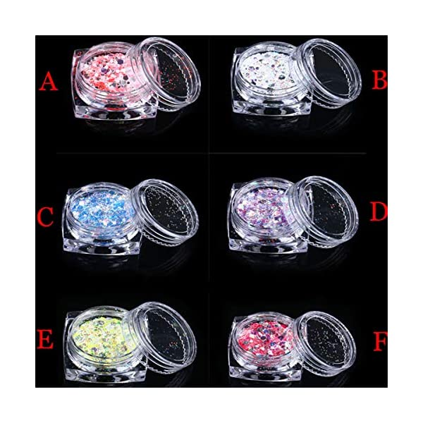 [category] Thenxin Nail Glitter Flakes Holographic Colorful Round Sequins