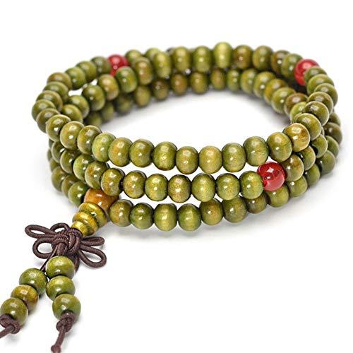 Lankater Perle del Buddha di Preghiera Bracciali Cinese Nodo Elastico Buddista del Braccialetto del Polso Ornament Jewelry Verde