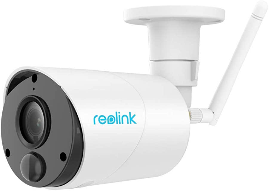 Reolink Argus Eco Cámara de Vigilancia IP 1080P HD Exterior Inalámbrico Batería Recargable Energía Solar Audio Bidireccional Detección de Movimiento PIR para Hogar Seguridad (Antena Externa)