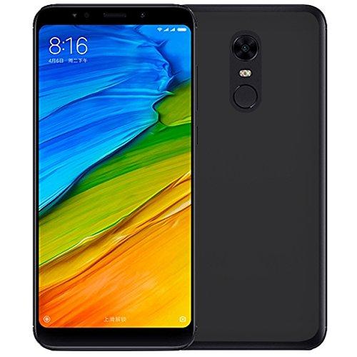 TBOC® Funda de Gel TPU Negra para Xiaomi Redmi 5 Plus - Redmi 5Plus (5.99 Pulgadas) de Silicona Ultrafina y Flexible