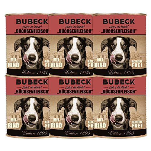 seit 1893 Bubeck Nassfutter für Hunde | mit Rind & Geflügel | Dosenfutter für Hunde mit Gartengemüse | 6 x 800g | Hundenassfutter getreidefrei | hoher Fleischanteil
