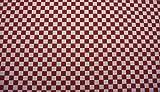 Quadro - Karo weiß rot kariert - 35 % Baumwolle / 65 %
