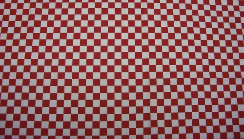 Quadro - Blanco - 35% algodón 65% poliéster - Impresión Reactiva - Por metro (rojo)