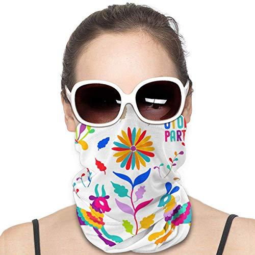Nother Folk Mexicano Otomi Style The Arts Versátil Multifunción, Braga para el cuello, pasamontañas, forro para casco de equitación para niños, mujeres y hombres, protección UV