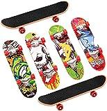 YIQI Mini Skateboard da Dito 6 Pezzi, Mini Skateboard Skate Boarding Giocattoli Giochi Sportivi Regalo per Bambini