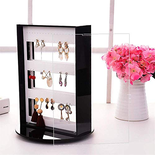NBVCX Life decoration Jewelry Tower Stand Wall Mount Hanging Closet Jewelry Storage Rack Stud Earring Holder Organizer Display For Earrings Hanging (Color : Acrylic Size : 23 * 32 * 21cm)