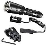 Nitecore SRT7 Cree XM-L2 LED Flashlighght-960 Lumens w/Offset Gun Mount & Pressure Switch