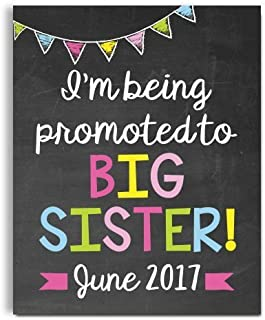 Big Sister Pregnancy Announcement Paper Art Print   Pregnancy Announcement Sign   Baby Announcement Photo Prop   Big Brother Sign   New Baby Sign