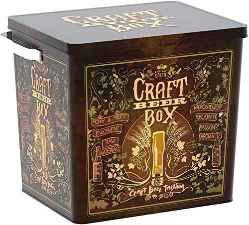 Kalea Beer Box | Metallbox mit 3D-Prägung | Bierspezialitäten | Perfekte Geschenkidee für Männer, Väter und alle Bierliebhaber (Craft Bier Box) - 3