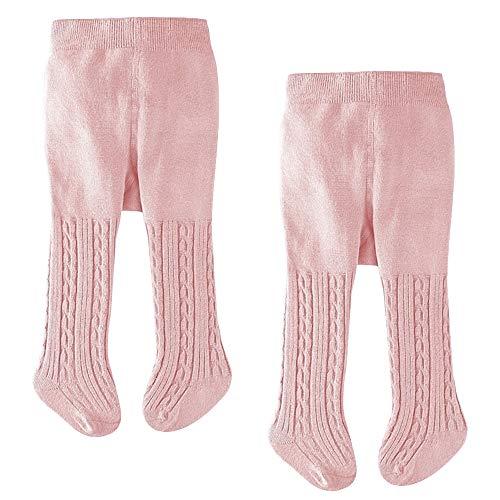 LXGKREL Strumpfhosen für Baby Mädchen Jungen Baumwolle-Strick-Strumpfhose Weich Warm und Elastisch 2 Stück 0-24 Monate