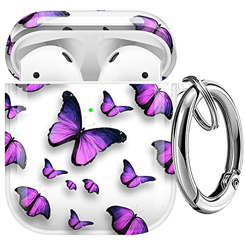 Maxjoy Compatible AirPods Case Cover, Clear Butterfly Case Cute Soft Protective Shockproof Cover...