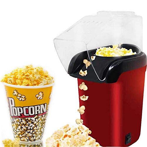Best Bargain 1200W Mini Household Healthy Hot Air Oil-Free Popcorn Maker Machine Corn Popper For Hom...
