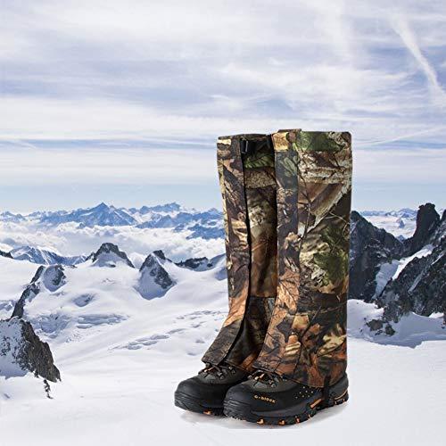 KINJOHI 1 Paar Outdoor wasserdichte Schneedecken Skifahren Wandern Gamaschen Stiefel Schuhe Camouflage Legging Covers Size XL