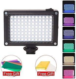 En -Camera LED Video Light 3200K-5500K Vlog Fotografía Iluminación con geles de Color para cámaras DSLR Compatible con Zhiyun Smooth 4 Ronin S/Ronin SC Stabilzers