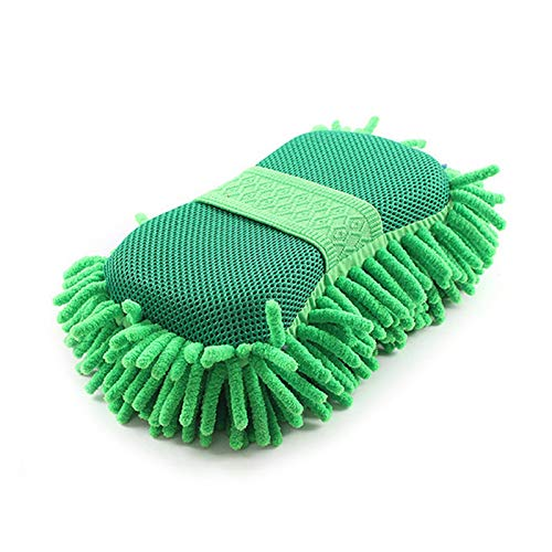 ENE Lavado de Coches Mano Toalla Suave Cepillo Microfibra Chenilla Guantes de Lavado Coral vellón Esponja lavandería Limpieza Accesorios (Size : A)