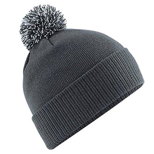 Unisexe Beechfield Snowstar Duo d'hiver Bonnet en tricot à pompon - - Taille unique