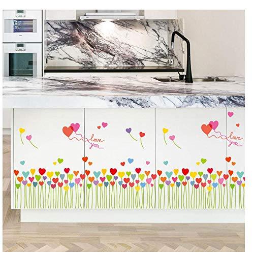 MINGKK - Adhesivo decorativo para pared, diseño de globo en forma de corazón