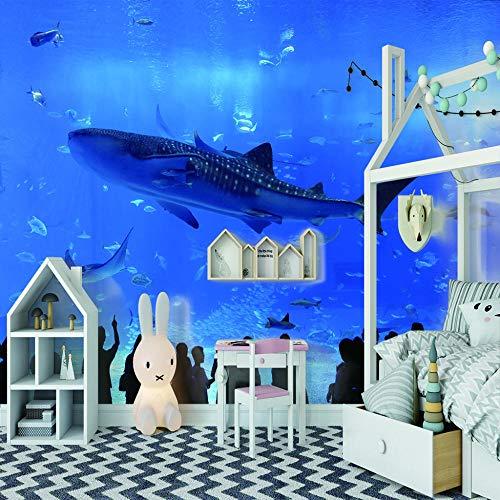 Fototapete Unterwasserwelt Fisch 3D Tapete Vliestapete Moderne Wanddeko Design Tapete Wandtapete Wand Dekoratio TV Hintergrundwand - 200cm(W) x150cm(H) - 4 Stripes