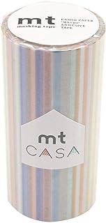 mt CASA マスキングテープ 100mm マルチボーダー・パステル MTCA1121