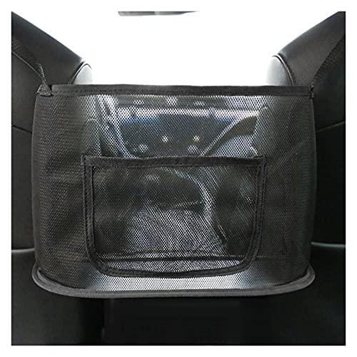 Almacenamiento de coche Accesorios de coche Organizador lateral del asiento Holder Malla Bolso de malla Bolso de almacenamiento Holding Auto Universal Interior Accesorios Parte ( Color Name : BLACK )