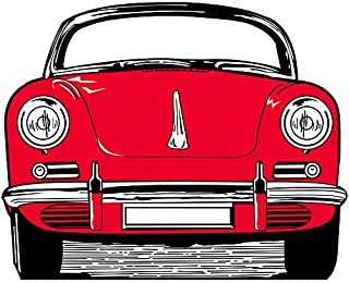 50s Fifties Sports Car Standee Party Prop Decoration Standup Photo Booth Prop Background Backdrop Party Decoration Decor Scene Setter Cardboard Cutout