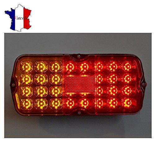 PAIRE FEUX ARRIERE 12V 32 SMD LED LAMPES POUR CAMIONETTE MINI REMORQUE CAMION