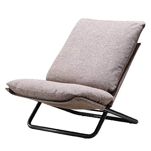 Iron sofa-moderne minimalistische woonkamer stof vouwen balkon lounge stoel geschikt for balkon tuin huis woonkamer stoel QIANGQIANG