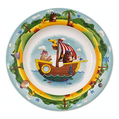 Villeroy & Boch Chewy's Treasure Hunt Plato infantil, 22 cm, Porcelana Premium, Blanco/Colorido