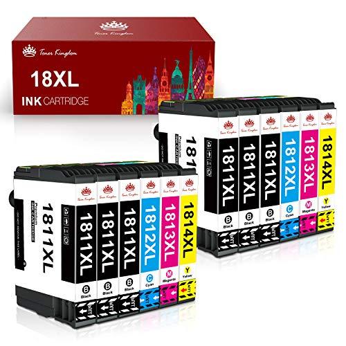 Toner Kingdom 18XL Cartuchos de Tinta Reemplazo para Epson 18 18 XL Compatible con Epson Expression Home XP-205 XP-215 XP-225 XP-305 XP-322 XP-325 XP-405 XP-415 XP-422 XP-425 XP-315 (Paquete de 12)