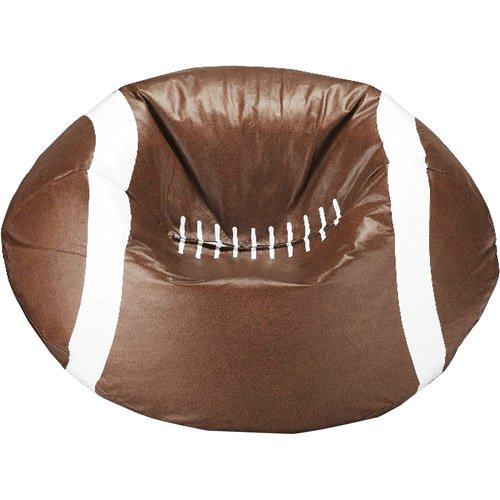 "96"" Round Vinyl Bean Bag, Football"