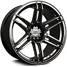XXR Wheels XXR 558 Chromium Black Wheel with Painted Finish (18 x 9.75 inches /5 x 4 inches, 36 mm Offset)