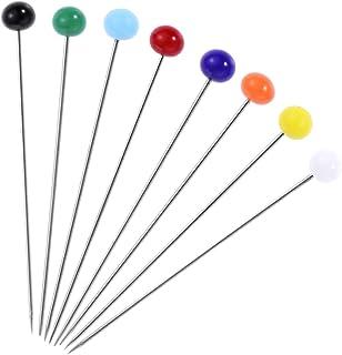 DOITOOL 100 peças de alfinetes coloridos de pérola com cabeça esférica de vidro para costura de tecido e artesanato de cos...