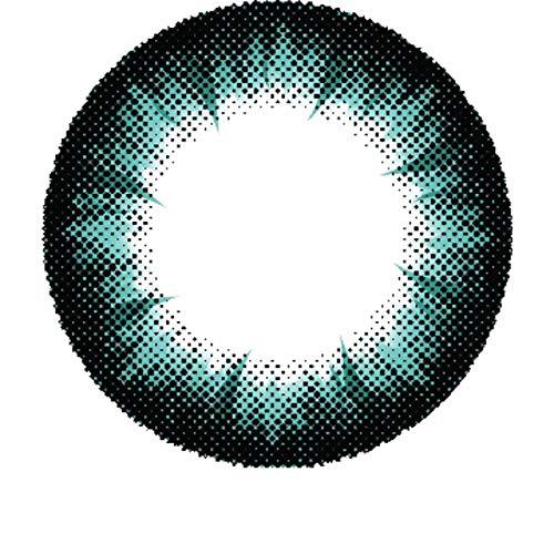 Matlens - Pro Trend Farbige Kontaktlinsen mit Stärke türkis aqua Big eyes Apollo NPX-A03 2 Linsen 1 Kontaktlinsenbehälter 1 Pflegemittel 50ml